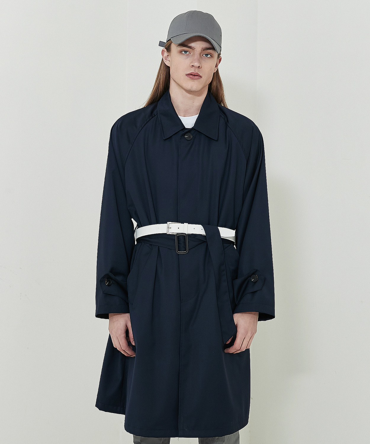 Classic Mac Trench Coat (Navy)