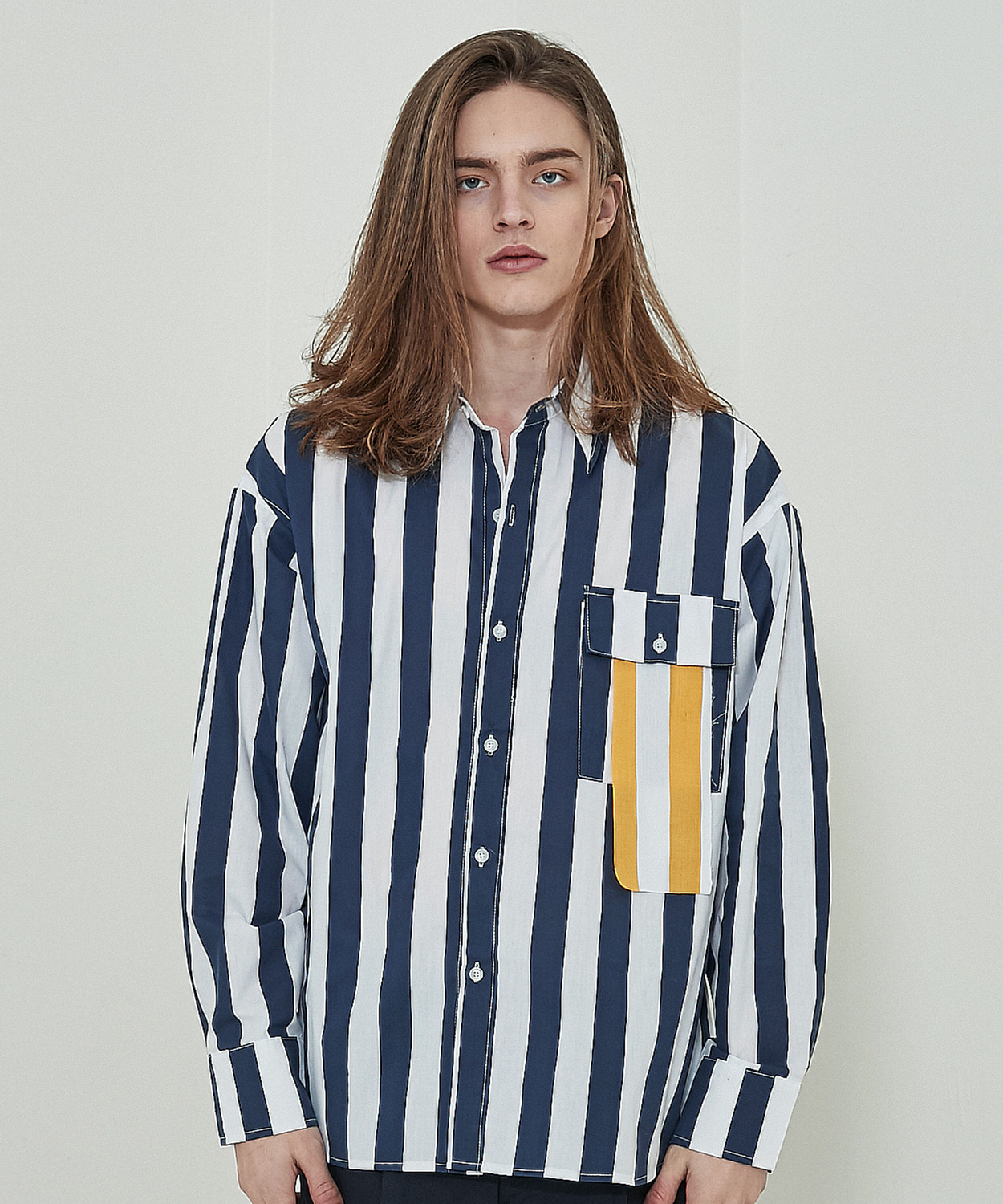 Weighty Stripe Shirts (Navy)