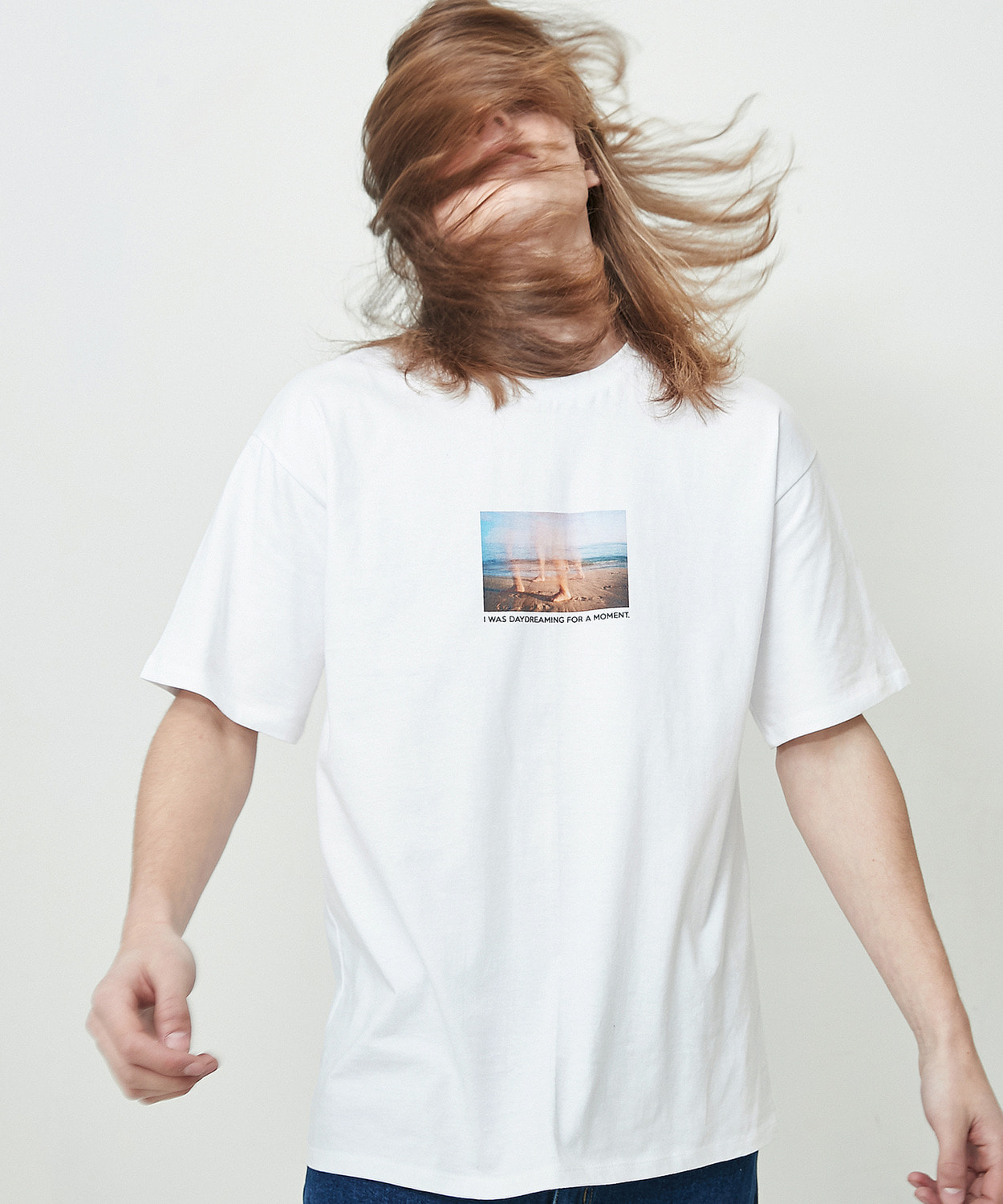 Day Dreaming Half T-Shirts (White)