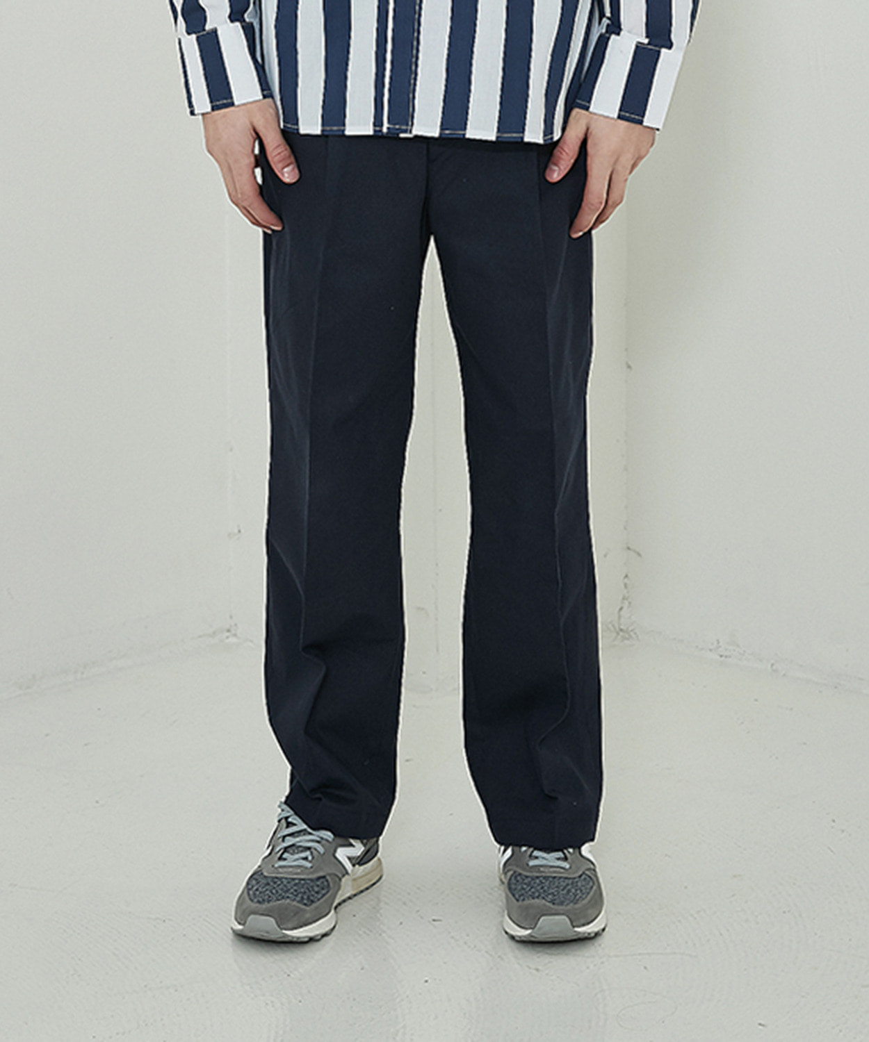 Overfit Cotton Pants (Navy)