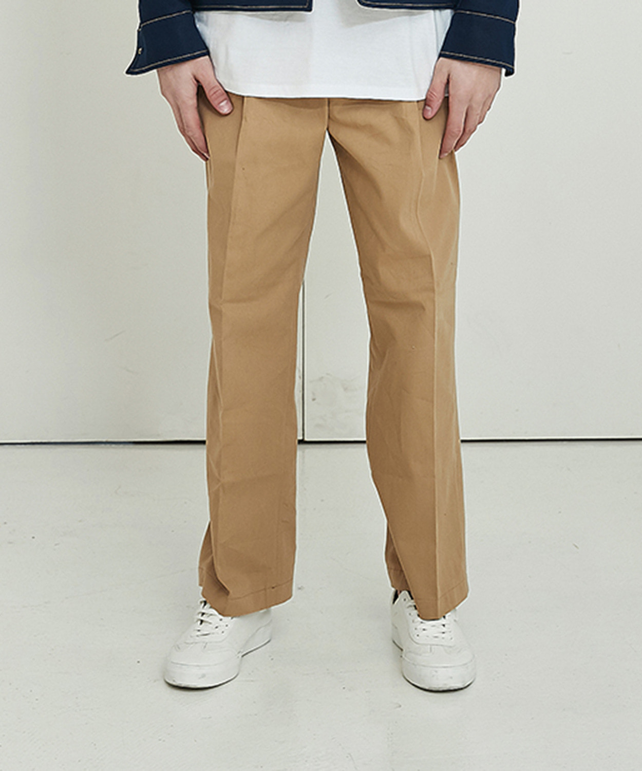 Overfit Cotton Pants (Beige)