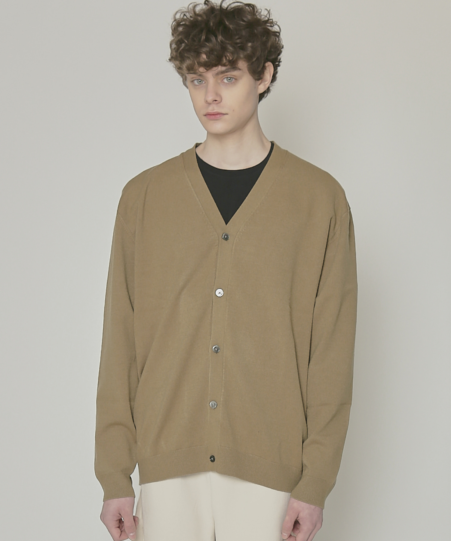 DWS SOFT BASIC CARDIGAN(DARK OLIVE)