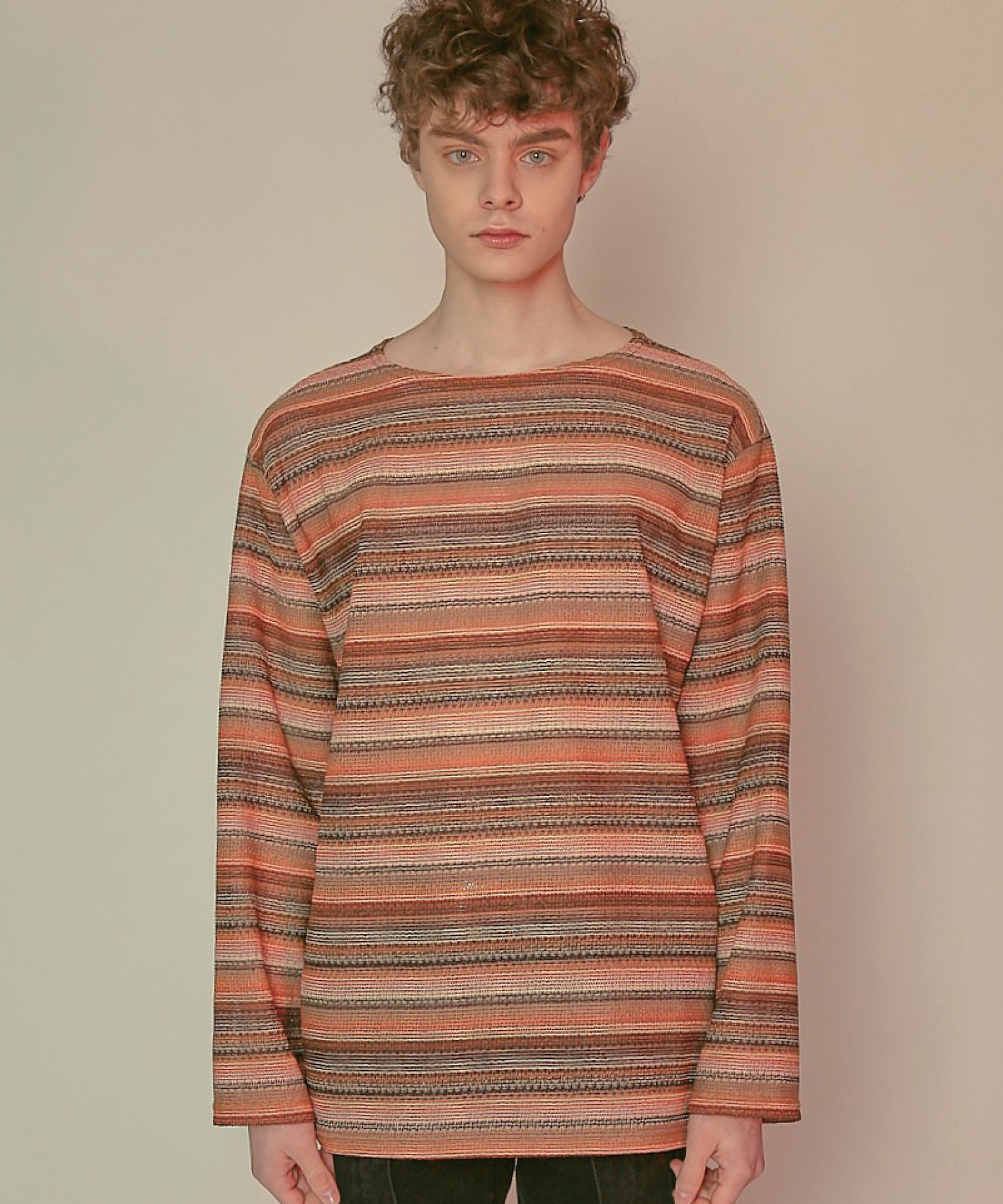 DWS STRIPE PULLOVER(RED)