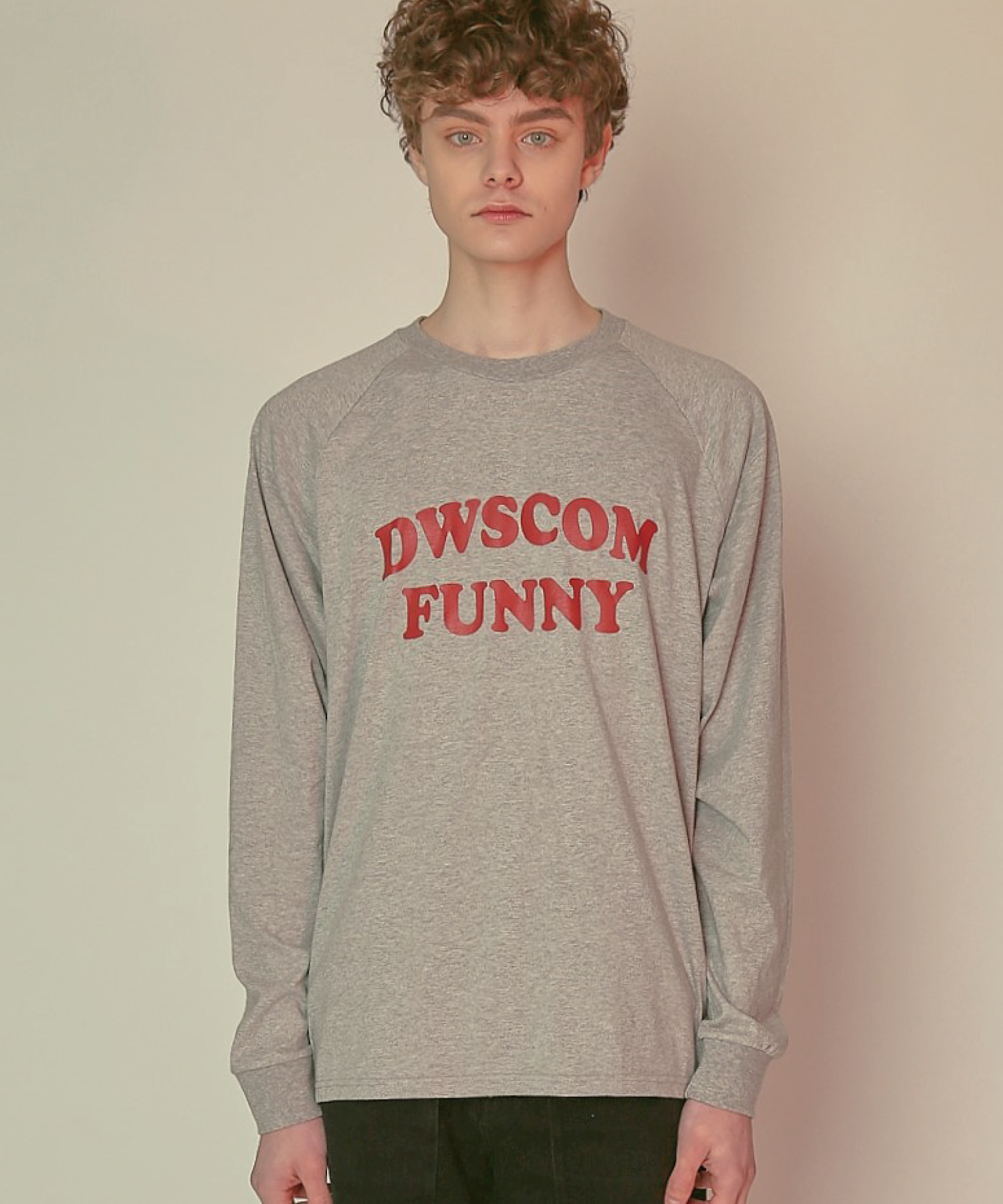 DWS COMFUNNY LONG SLEEVE T-SHIRT(MELANGE GREY)