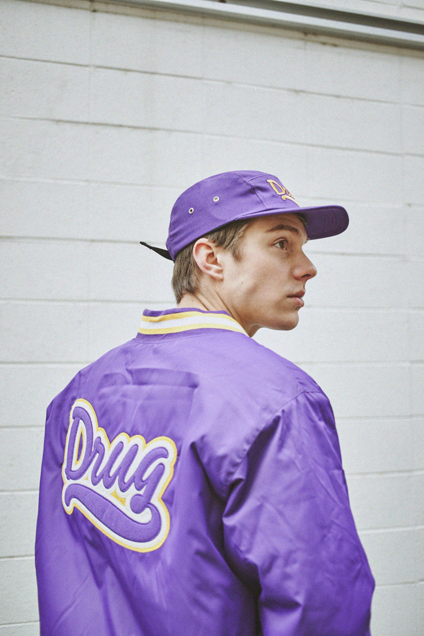 PURPLE STADIUM JACKET