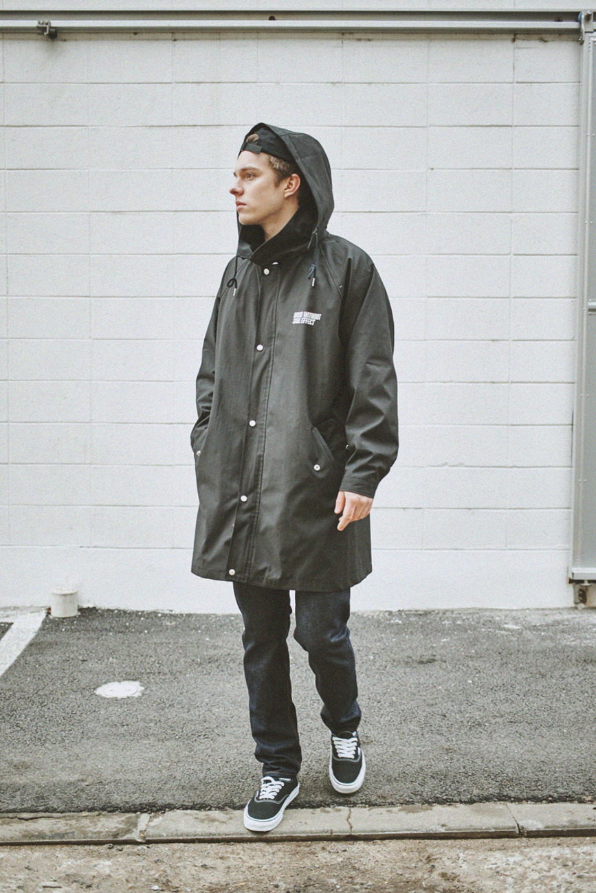 LONG COACH JACKET BLACK