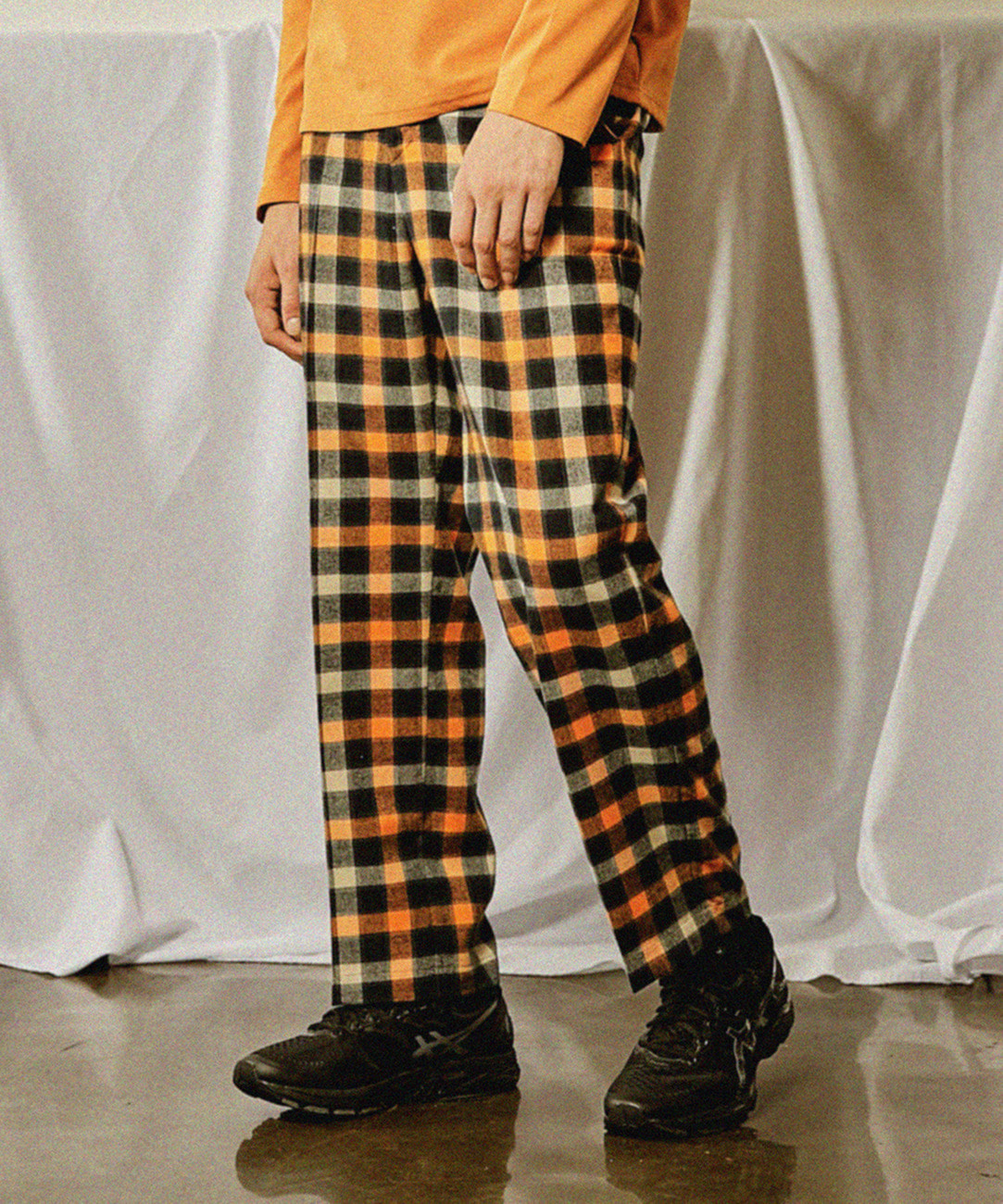 Check Oversize Pants (Orange)