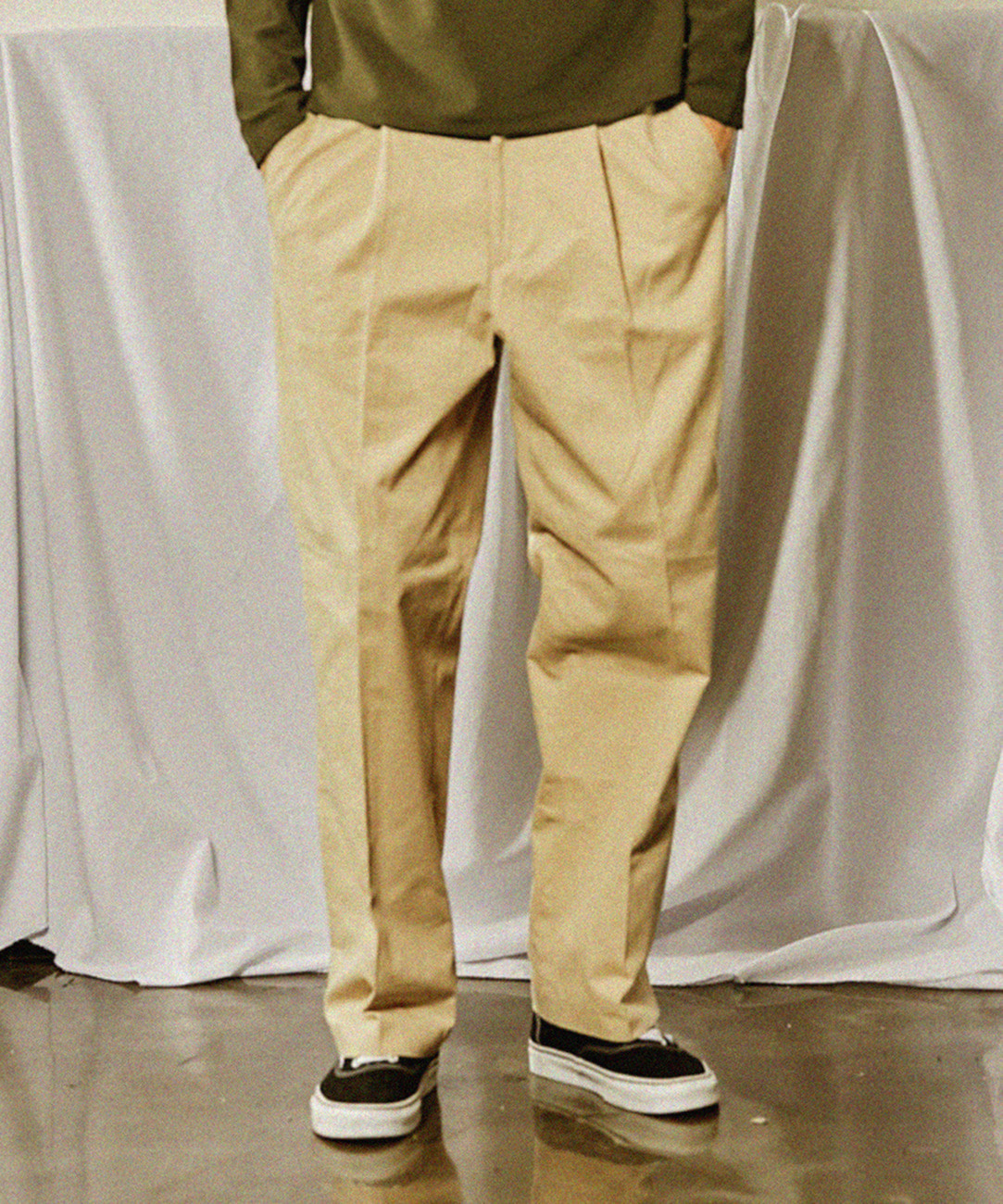 Cotton Oversize Pants (Beige)