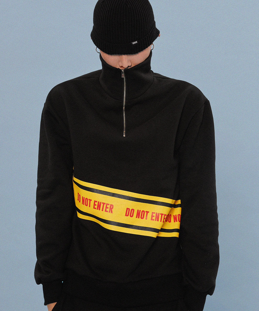 """DO NOT ENTER"" Anorak (Black)"