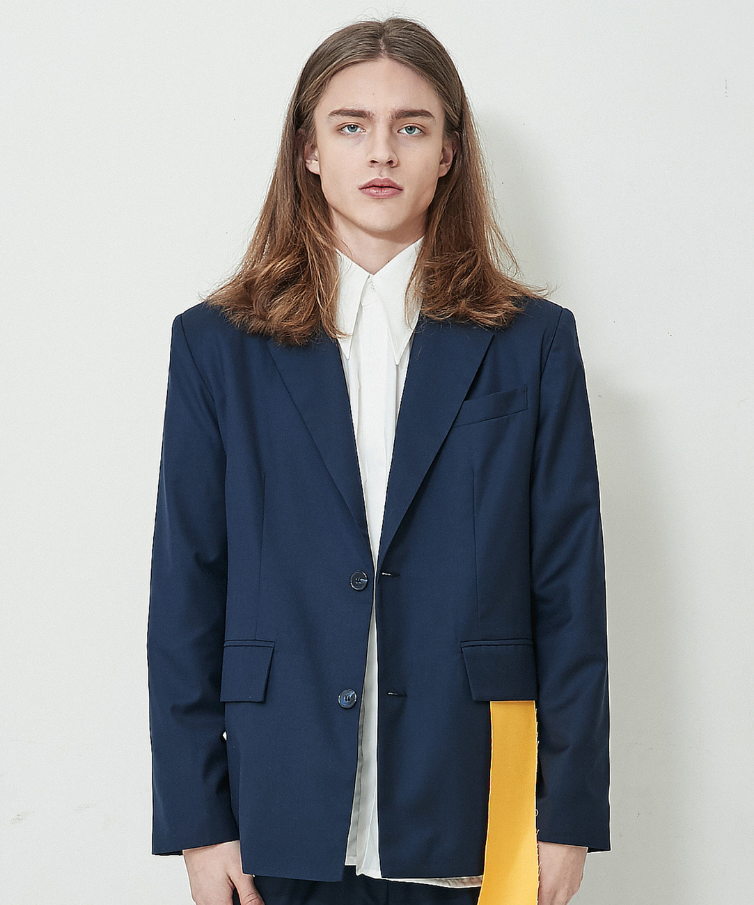 Overfit Single Blazer (Navy)