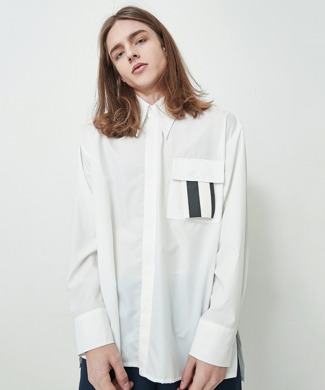 Big Collar Shirts (White)