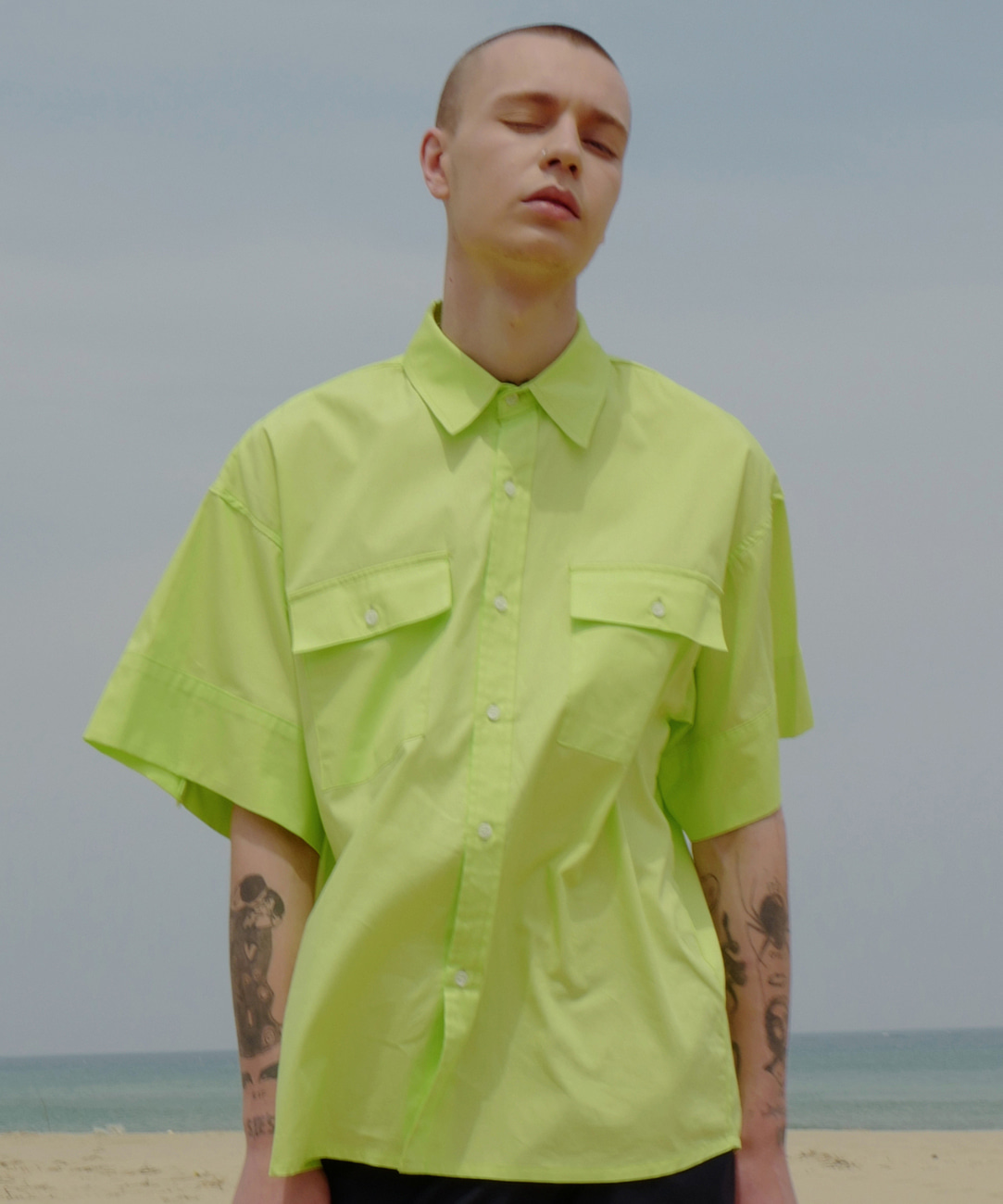 Oversized Cuffs Shirts (Neon)