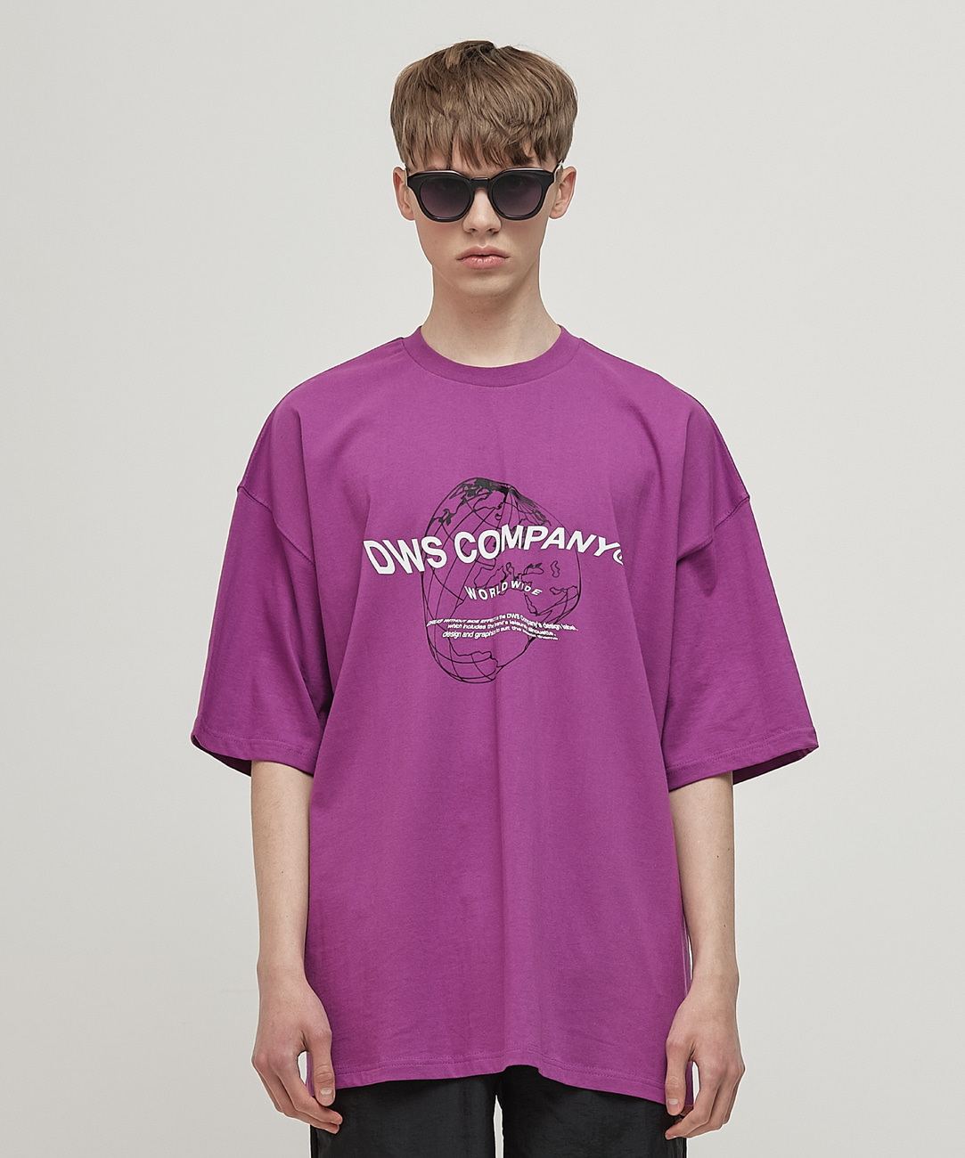 DWS WORLDWIDE T-SHIRT(PURPLE)