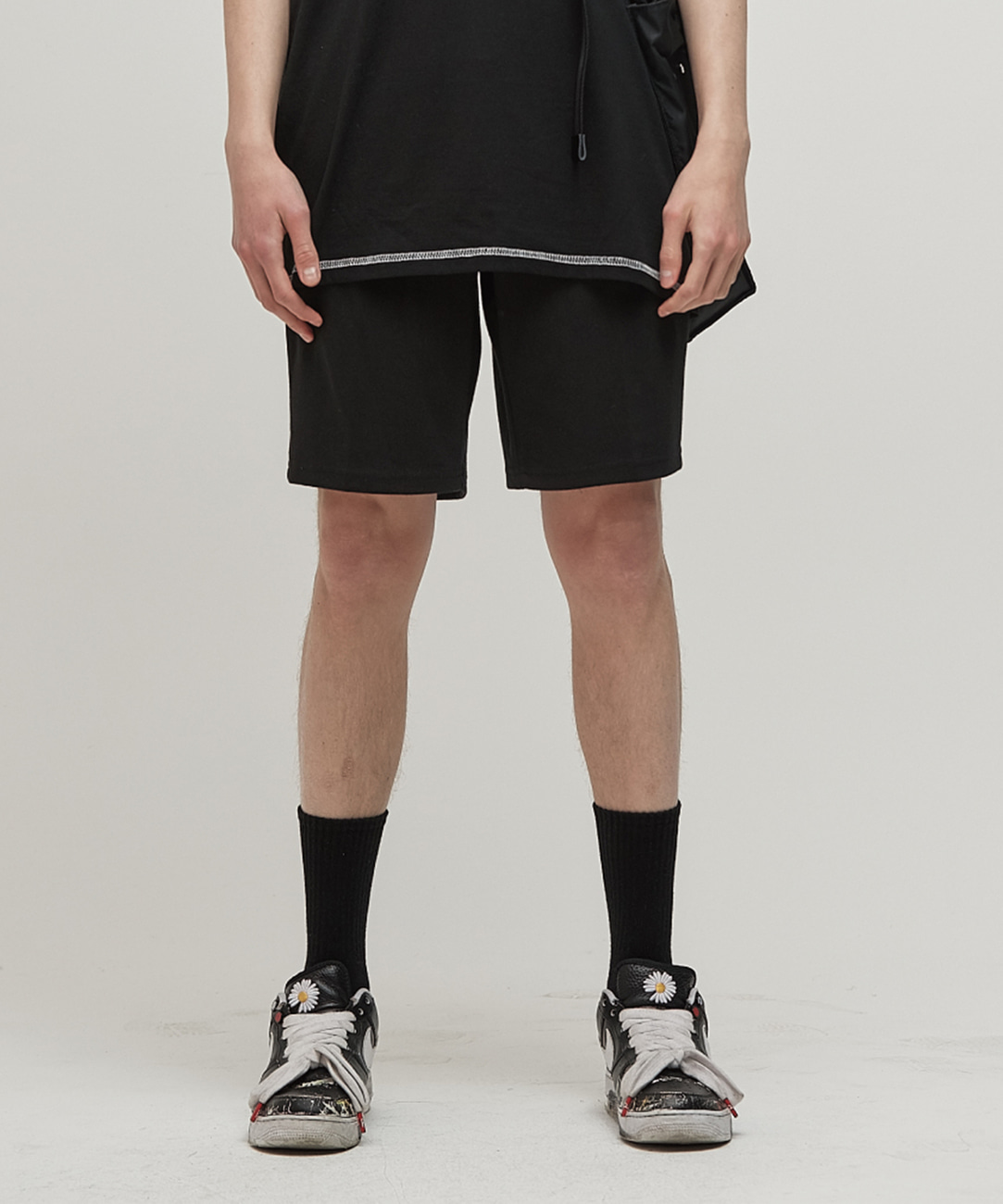 DWS LABEL SHORTS(BLACK)