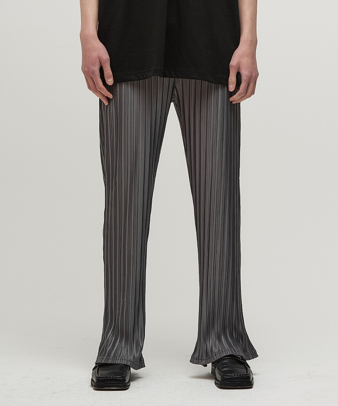 DWS PLEATS PANTS(DARK GREY)