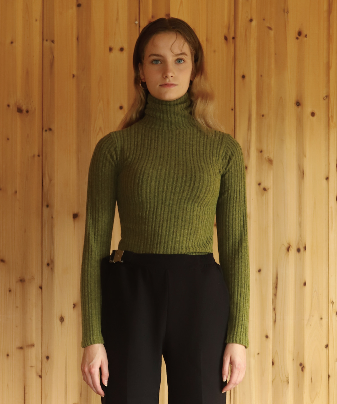 DWS LONG SLEEVE TURTLE NECK(WOMEN)(GREEN)