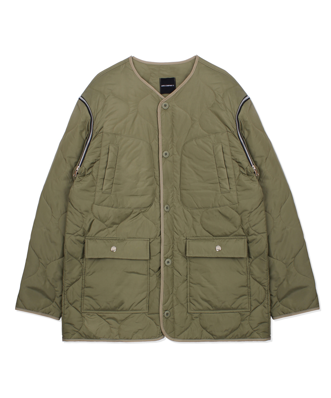 DWS 2WAY QUILTED JACKET(KHAKI)