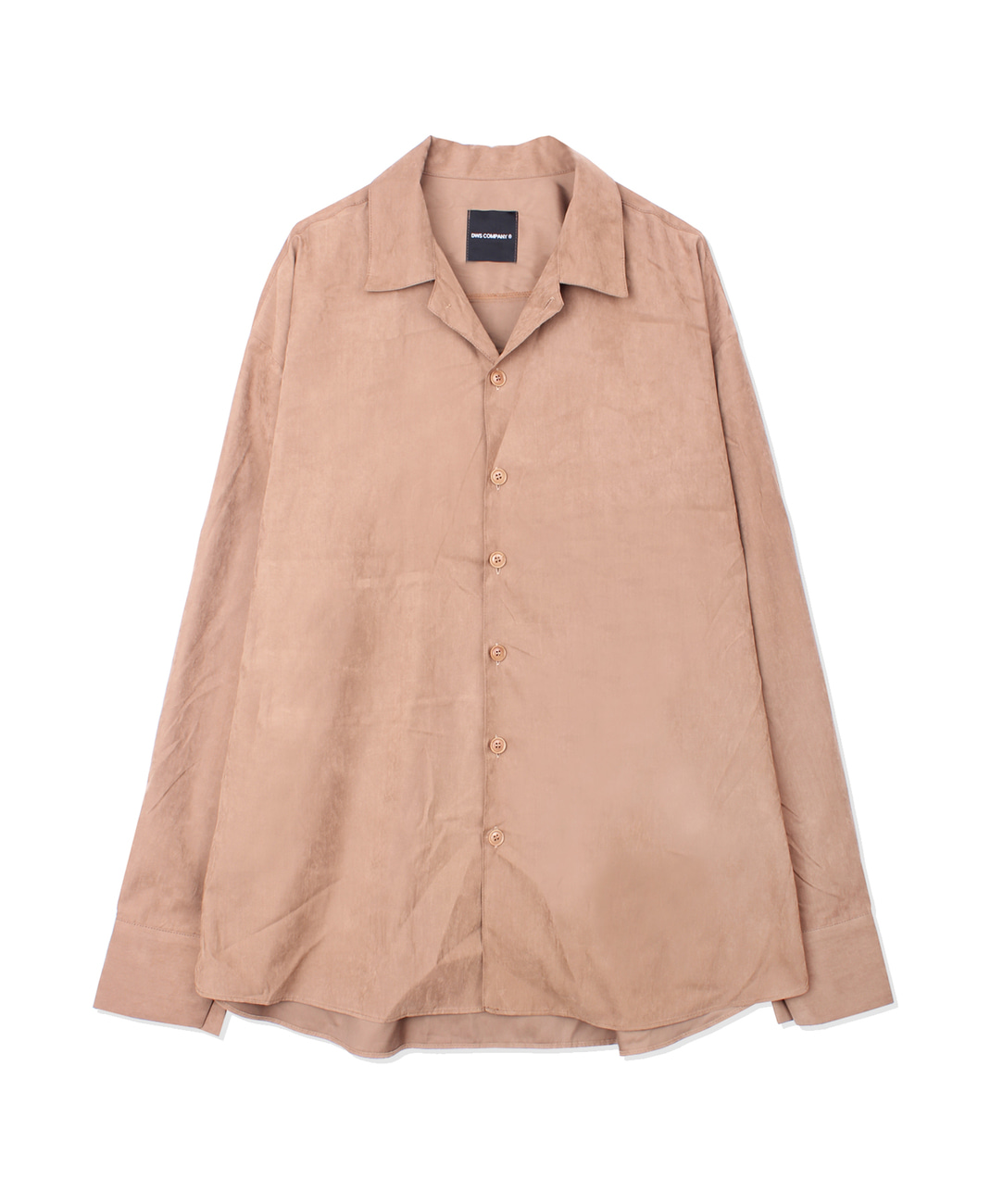DWS OPEN COLLAR SHIRT(BROWN)