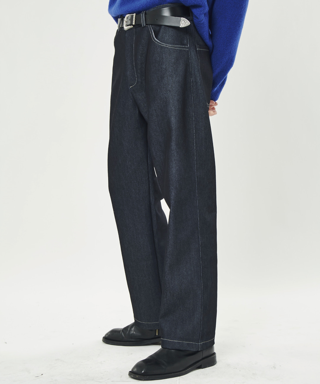 DWS SLEEK SLEEK TROUSERS(NAVY)