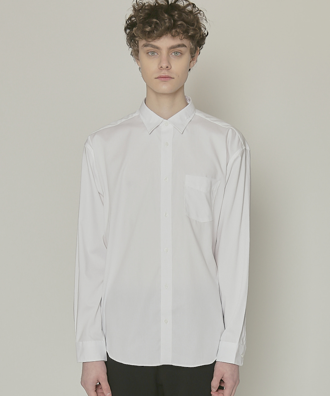 DWS ESSENTIAL SHIRTS(WHITE)