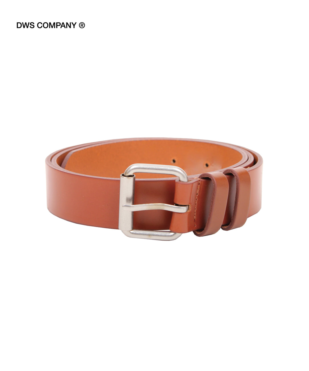 DWS ROLLING LEATHER BELT(BROWN)