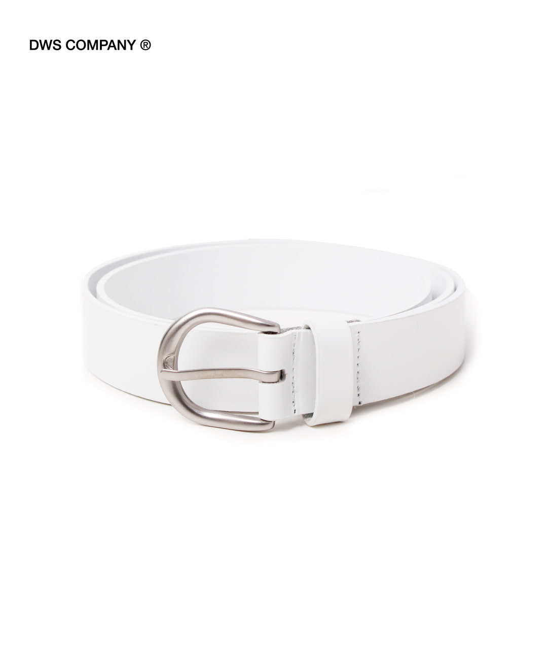 DWS BASIC LEATHER BELT(WHITE)
