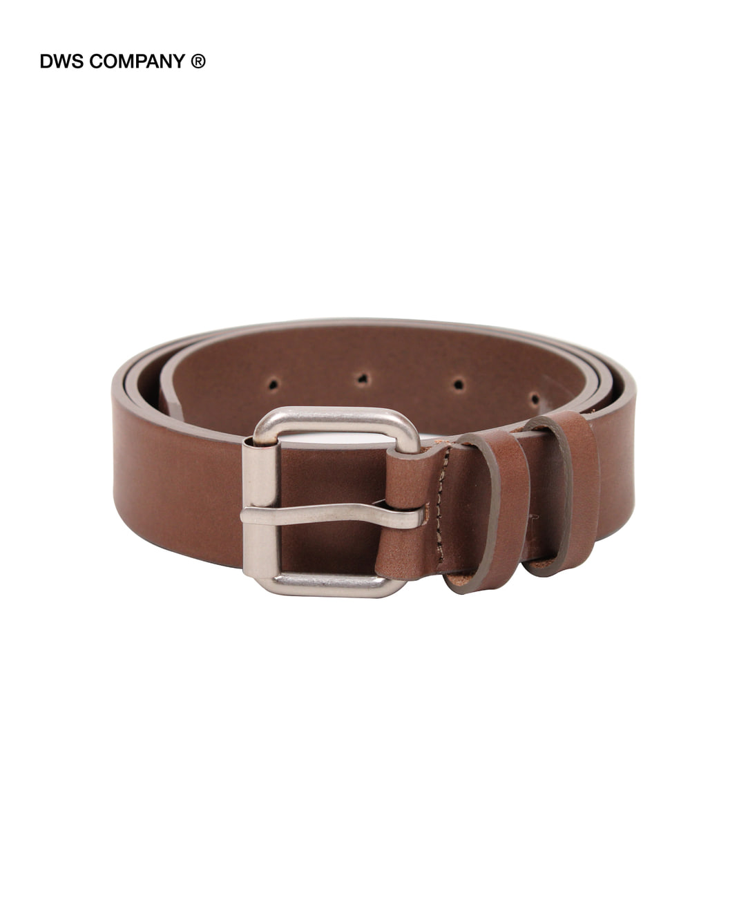 DWS ROLLING LEATHER BELT(MOCHA)