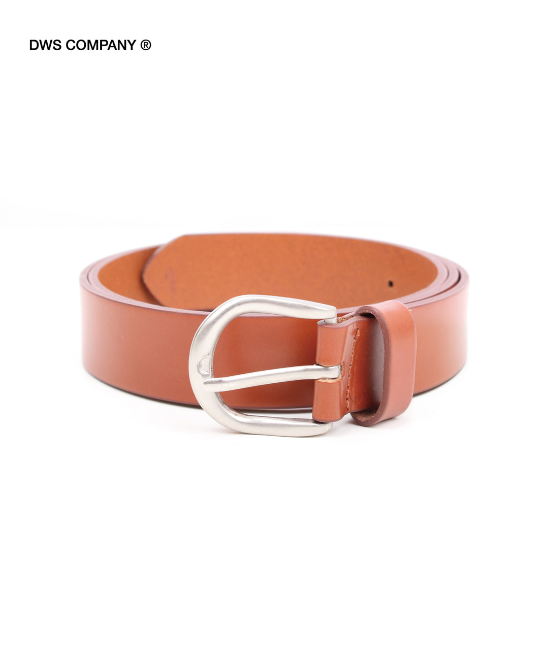 DWS BASIC LEATHER BELT(BROWN)