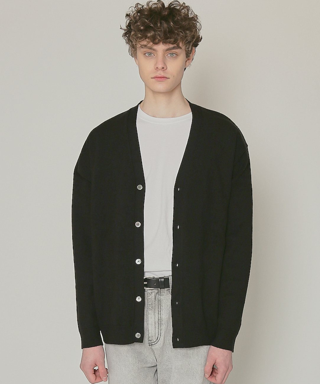 DWS SOFT BASIC CARDIGAN(BLACK)