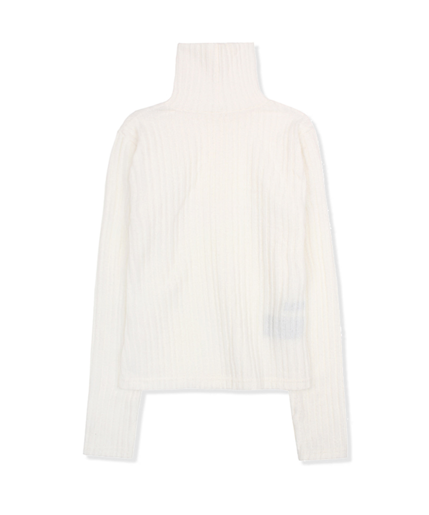 DWS LONG SLEEVE TURTLE NECK(WOMEN)(WHITE)