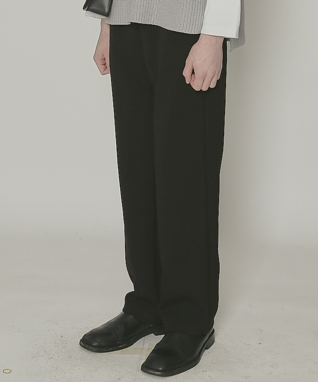 DWS BELTED TROUSERS(BLACK)