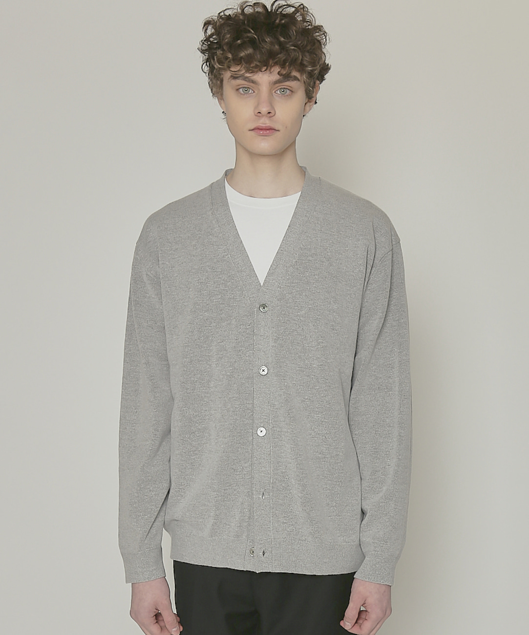 DWS SOFT BASIC CARDIGAN(GREY)