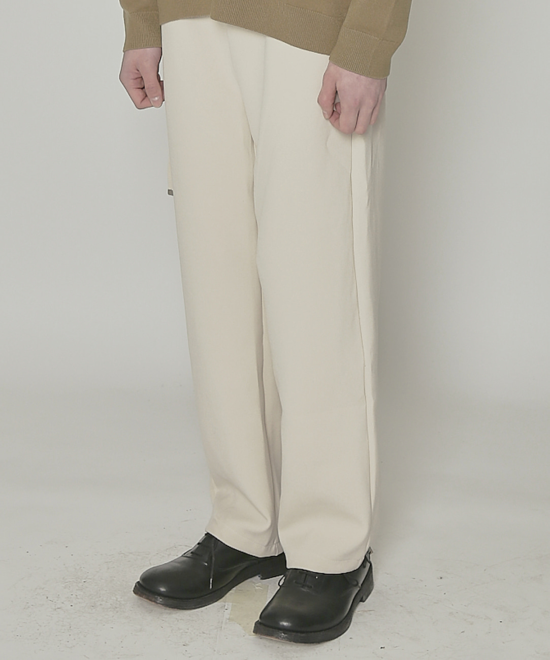 DWS BELTED TROUSERS(IVORY)